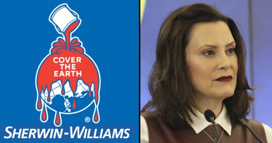 Governor Whitmer Deems Sherwin-Williams An Essential Business Because They're 'Trying To Cover The Earth In Blood'