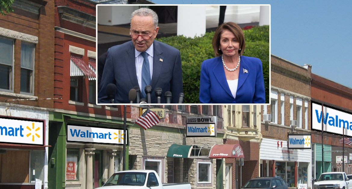 Democrats To Allow Small Businesses To Reopen Providing They Become Wal-Marts