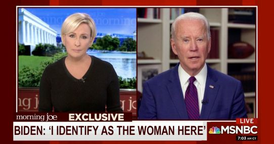 Joe Biden 'Calls Dibs' On Being The Woman So We Have To Believe Him