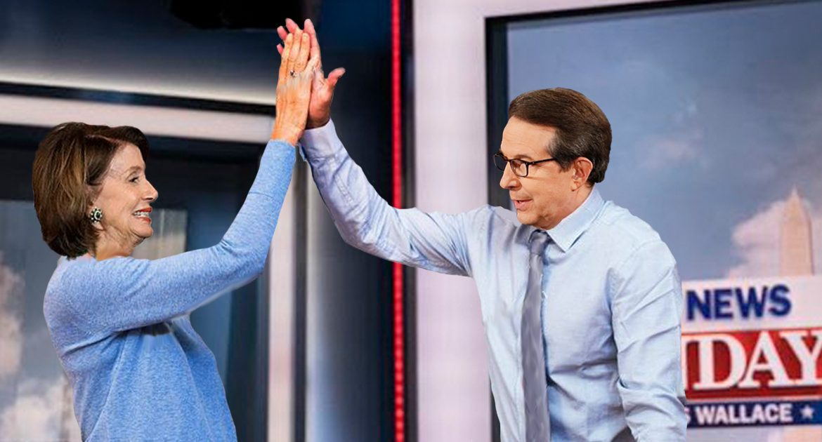 Chris Wallace And Nancy Pelosi Celebrate Another Perfectly Coordinated Fox News Sunday