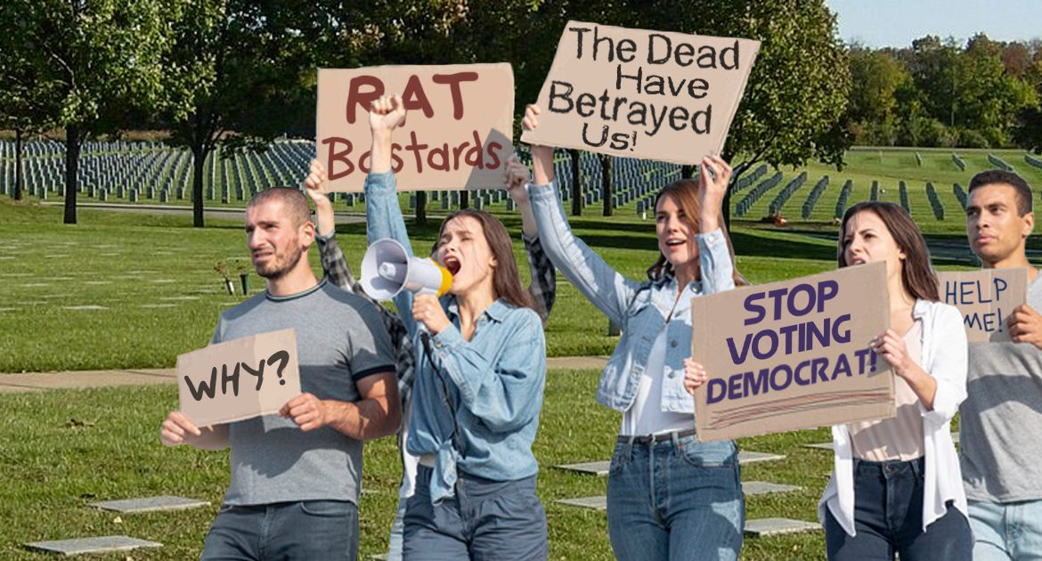 Illinois Citizens Protest Local Graveyards For Voting In Democrats