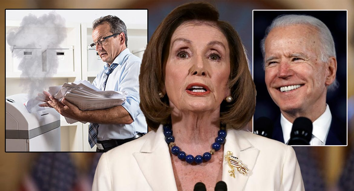 Pelosi: 'We Looked For Any Records Related To Tara Reade, But Only Found A Sweaty Man Using The Paper Shredder'