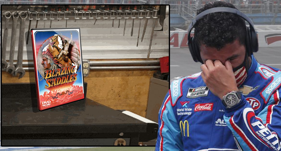 Blazing Saddles DVD Found In NASCAR Garage