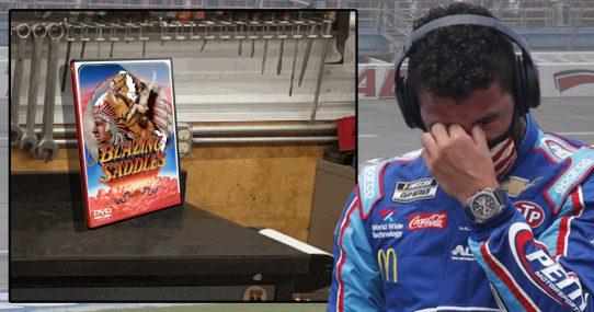 Blazing Saddles DVD Found In NASCAR Garage