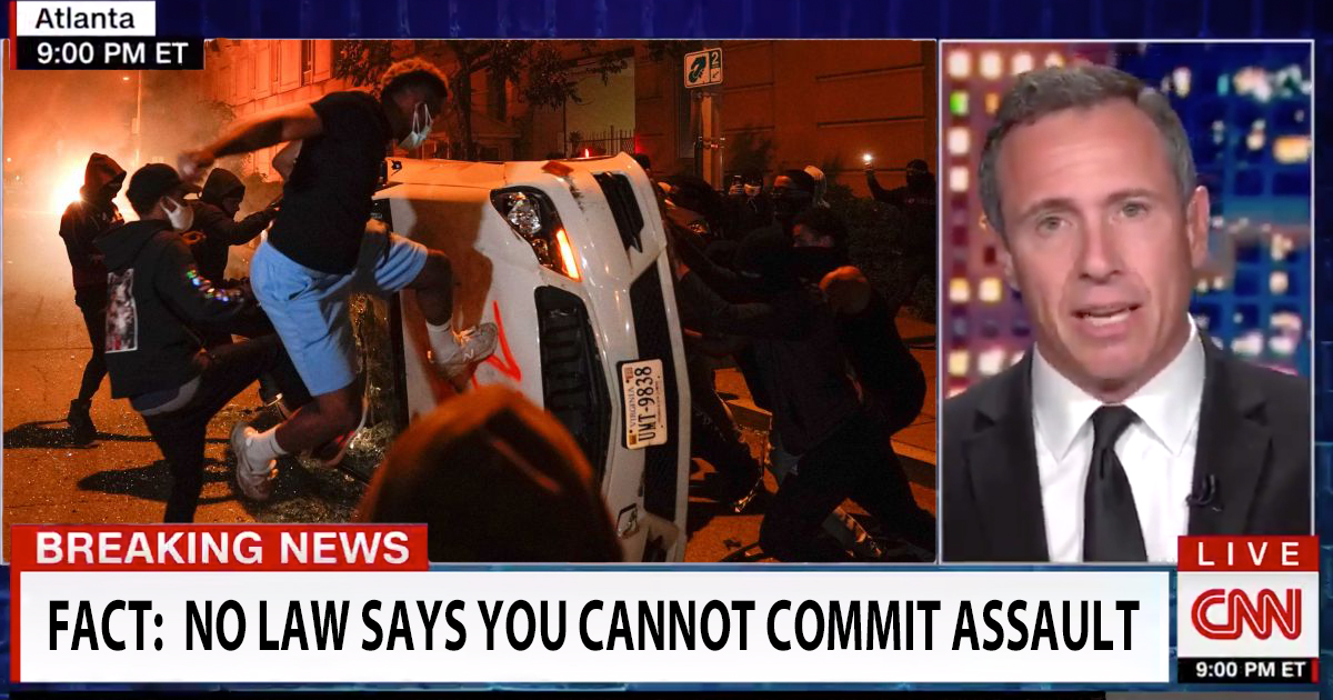 Chris Cuomo: 'Show Me The Law That Says Protesters Can't Commit Assault'