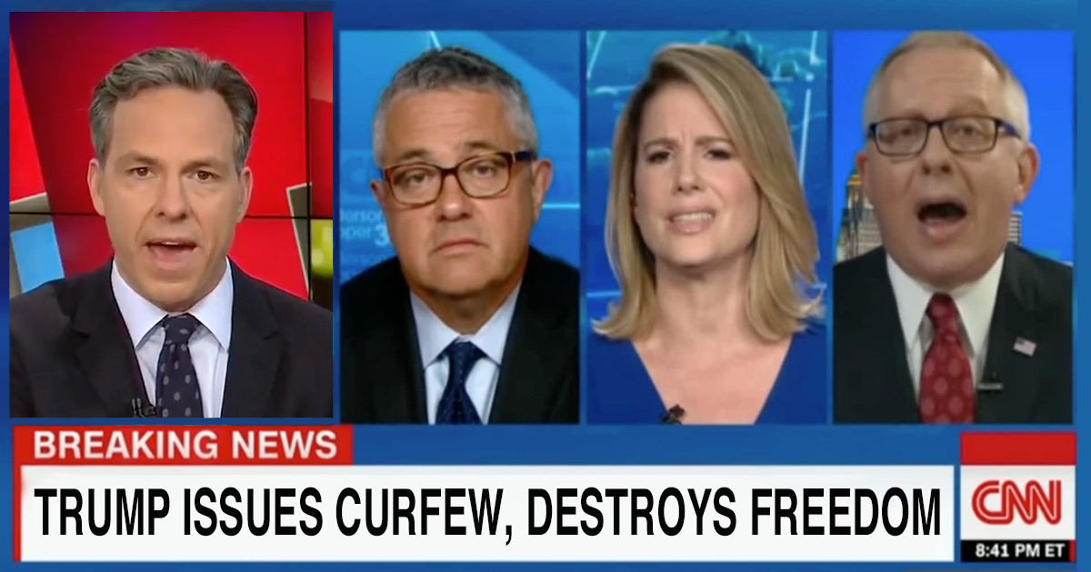 """You Can't Ask People To Stay In Their Homes!"" CNN Screams Upon Learning of Trump Issued Curfew"