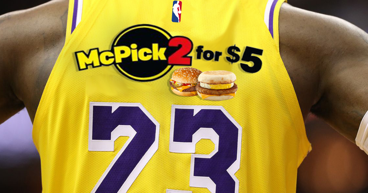 LeBron James Feels Led to Share Message Of McDonald's 2 For $5 Deal On Back Of Jersey