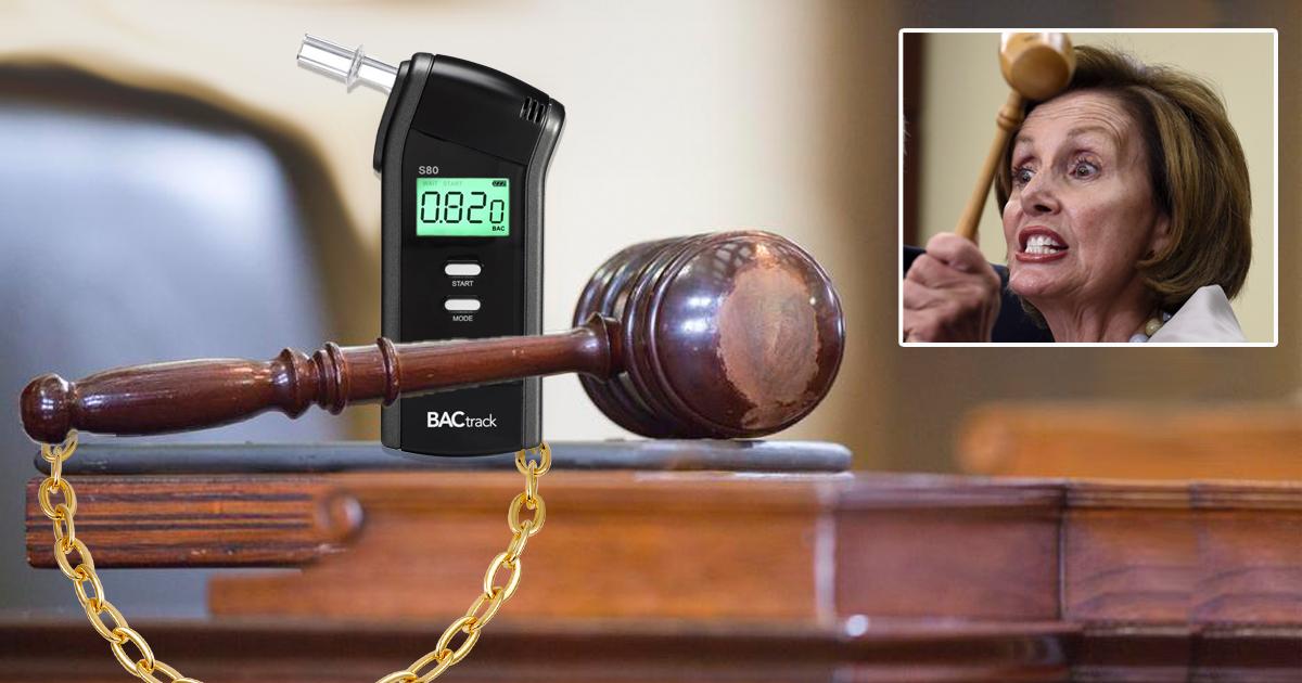 Judge Orders Breathalyzer Be Installed On Pelosi's Gavel