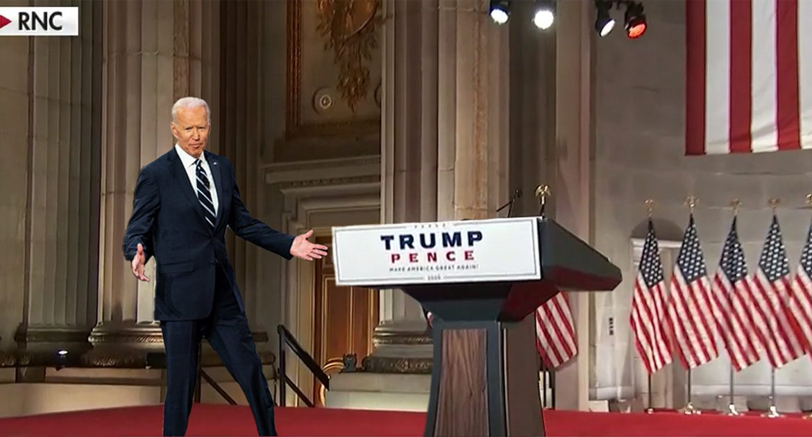 Biden Accidentally Wanders Onto RNC Stage, Endorses Trump