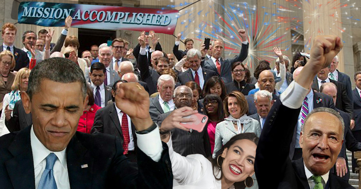 Democrats Reach Herd Immunity Against Common Decency