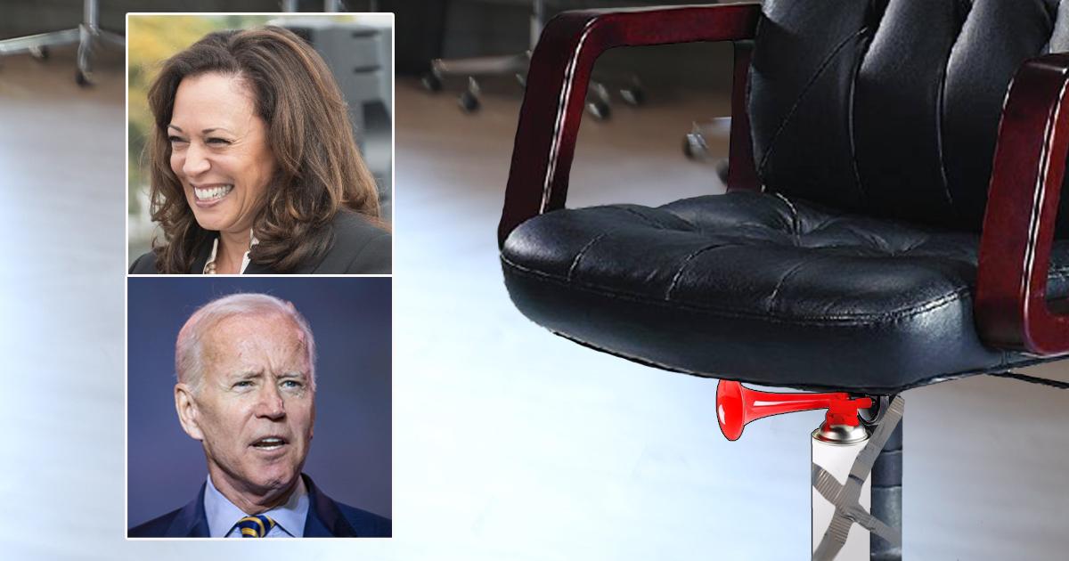 So Sweet! Kamala Harris Gives Joe Biden A Beautiful Office Chair As Thank You Present