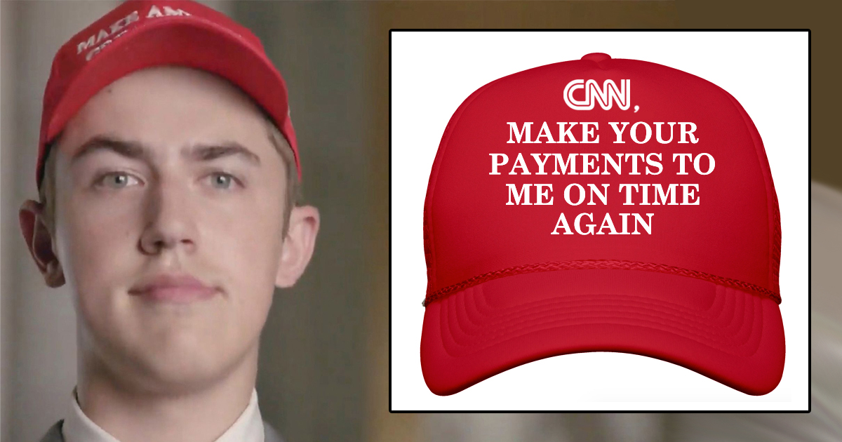 CNN Furious After Closer Look At Nick Sandman's Hat