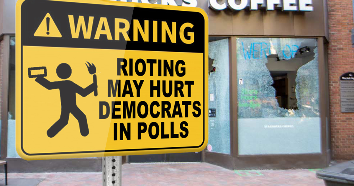 Democrats Install Warning Signs To Help Those Suffering From Riots