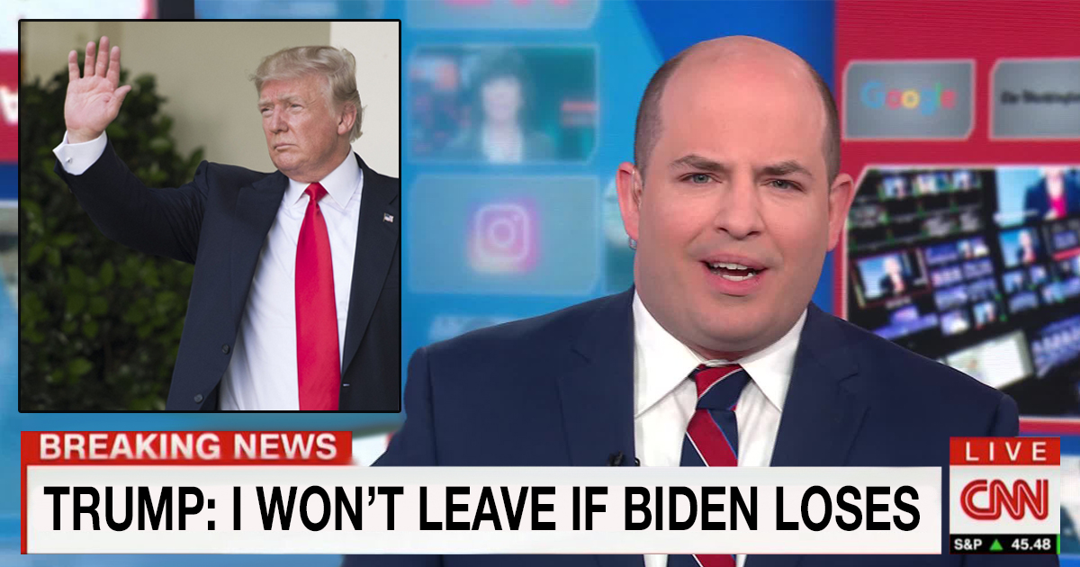 CNN: Trump Would Refuse To Leave Office If Biden Loses