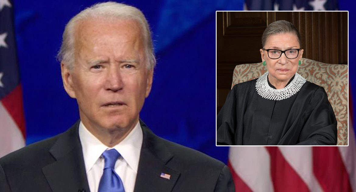 Biden On The Passing Of RBG: 'Up A Little More.  That's Too Far. Well, Now I Can't Read It.  Can You Zoom In Any?""