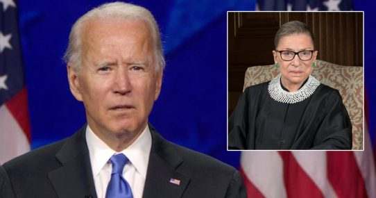 """Biden On The Passing Of RBG: 'Up A Little More.  That's Too Far. Well, Now I Can't Read It.  Can You Zoom In Any?"""""""