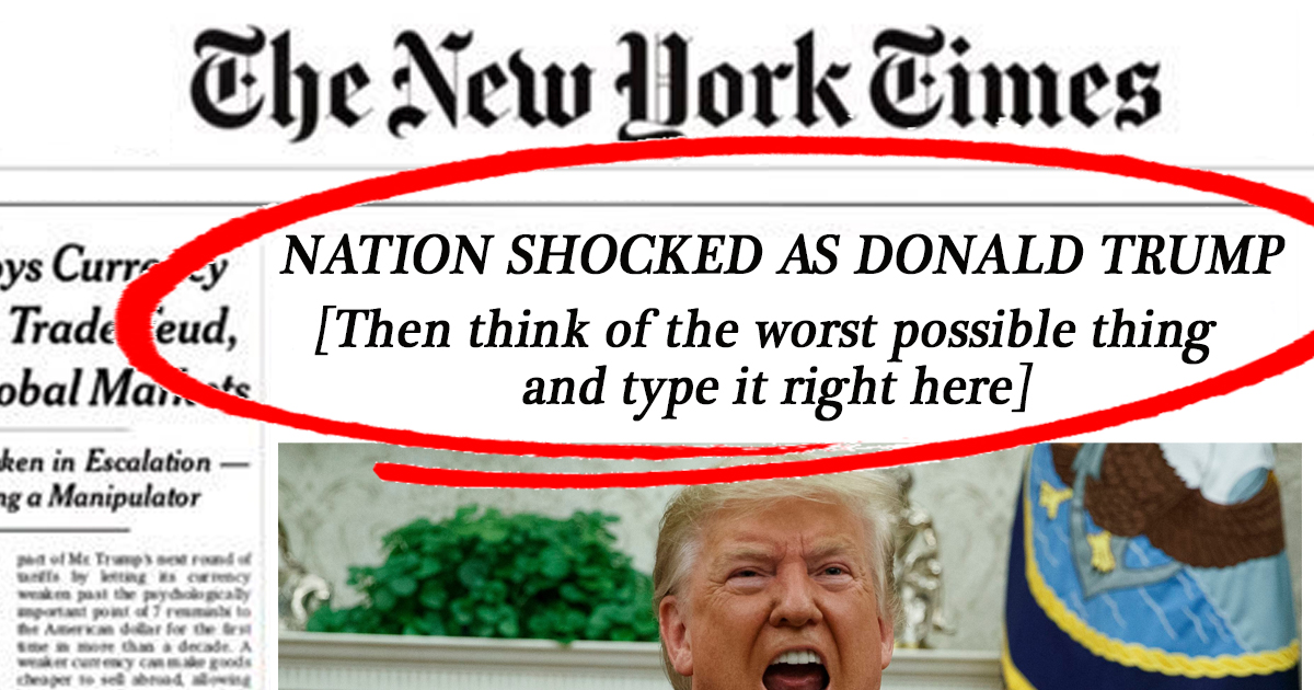 Oops: New York Times Forgets To Fill In Template Before Print