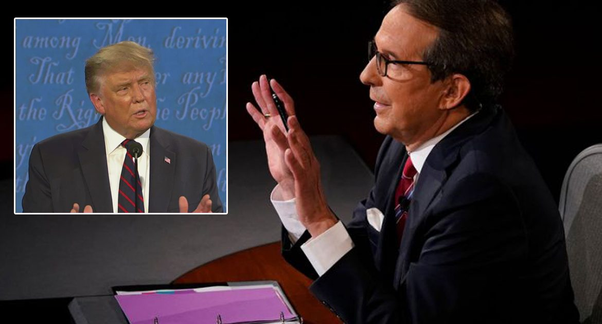 President Trump Rudely Interrupts Filming Of Chris Wallace's Pro-Biden Ad