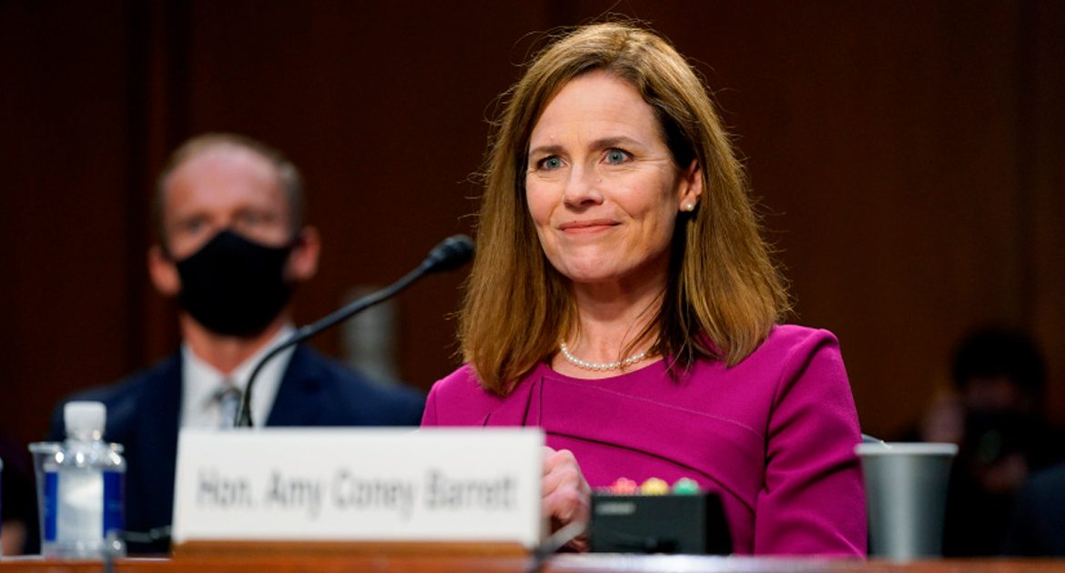 Amy Coney Barrett Tells Democrats She Won't Answer Questions Until After She's Confirmed