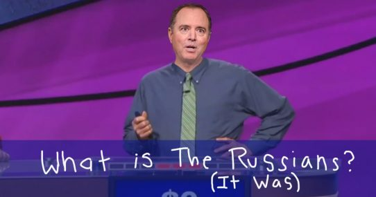 Adam Schiff Answers 'What Is The Russians' For All Answers In Jeopardy Appearance