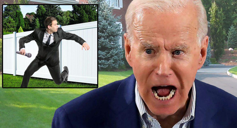 'Shoot 'Em In The Leg!' Screams Joe Biden As Reporter Gets Too Close