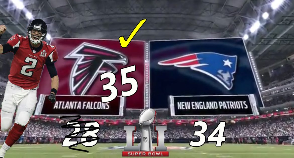 Georgia Officials Find 7 More Points To Give Falcons 1-point Lead Over Patriots in 2017 Super Bowl!