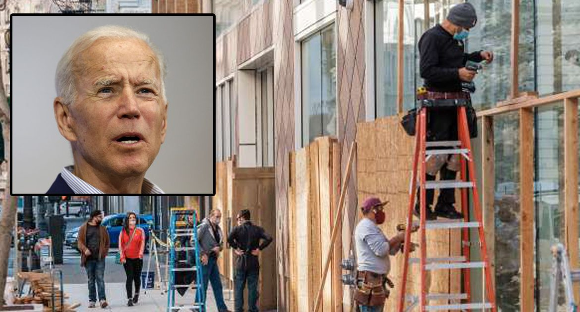 Businesses Across Nation Board Up As Fears Grow A Biden Economy Would Be Too Robust To Handle