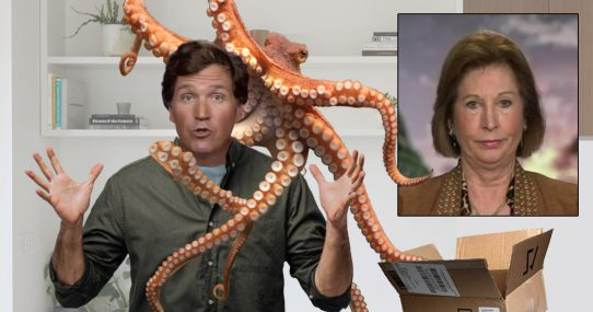 Sidney Powell Mails Tucker An Actual Kraken To Hold Him Over