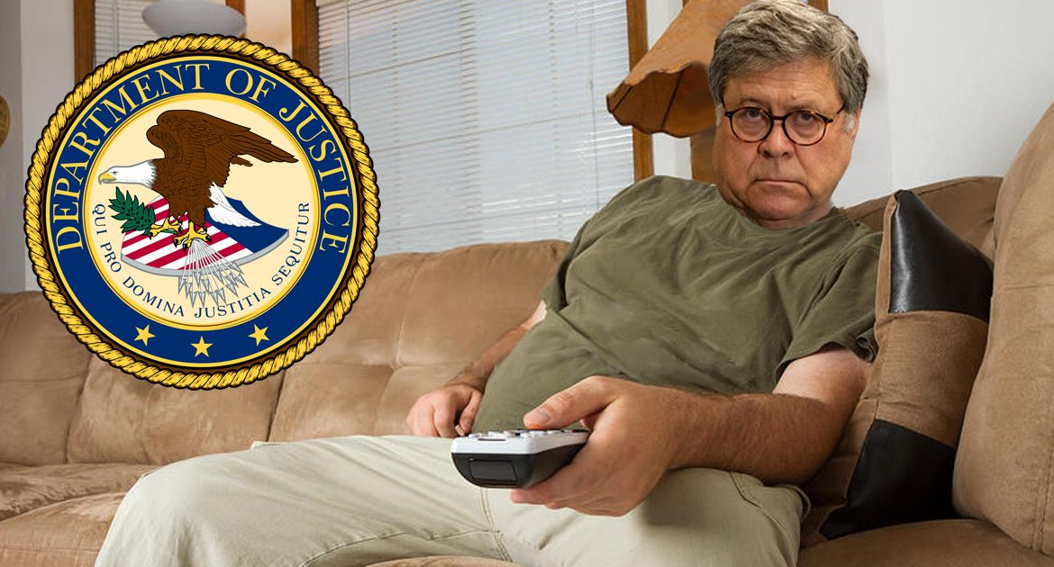 Department Of Justice Using Up All Sick Days Before The End Of Democracy