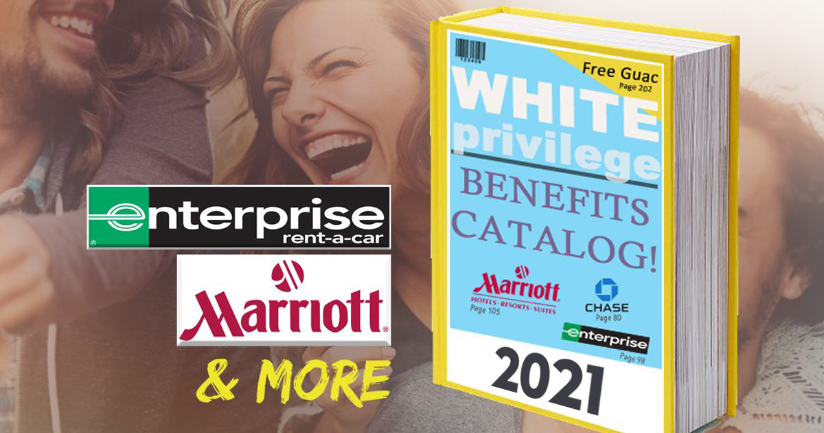 2021 White Privilege Benefits Catalogs Have Been Mailed Out