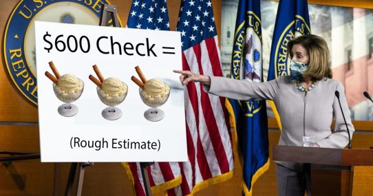 Pelosi: '$600 Stimulus Checks Can Buy Up To Three Gourmet Ice Creams'