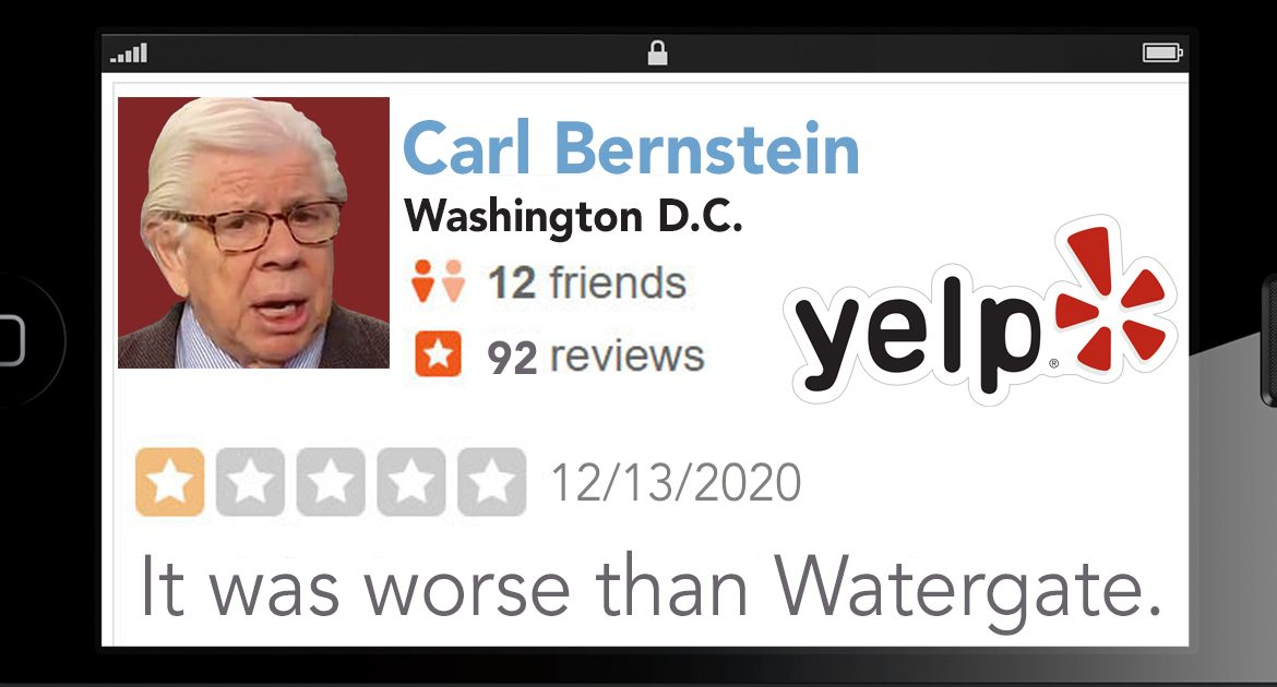 Yelp Asks Carl Bernstein To Stop Rating Everything As 'Worse Than Watergate'
