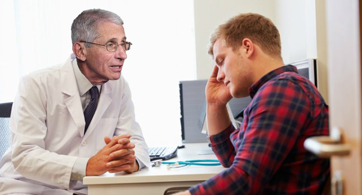 Dr. Fauci Gives College Student Only 68 Years To Live After Spotting Him Without Mask