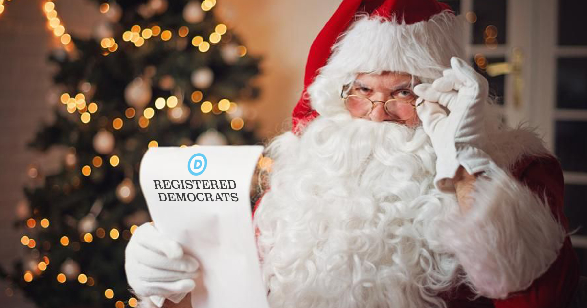 Santa To Just Use Democrat Voter Rolls For Naughty List