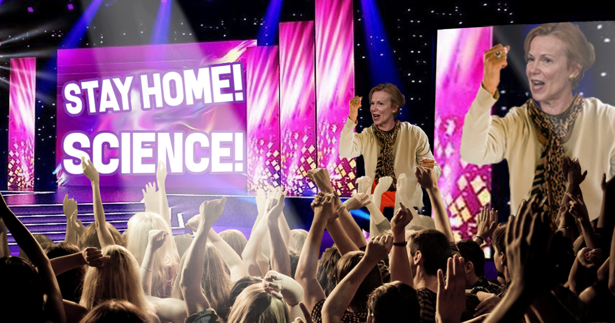 Dr. Birx Gets Caught Hosting Massive 'Stay At Home' Concert