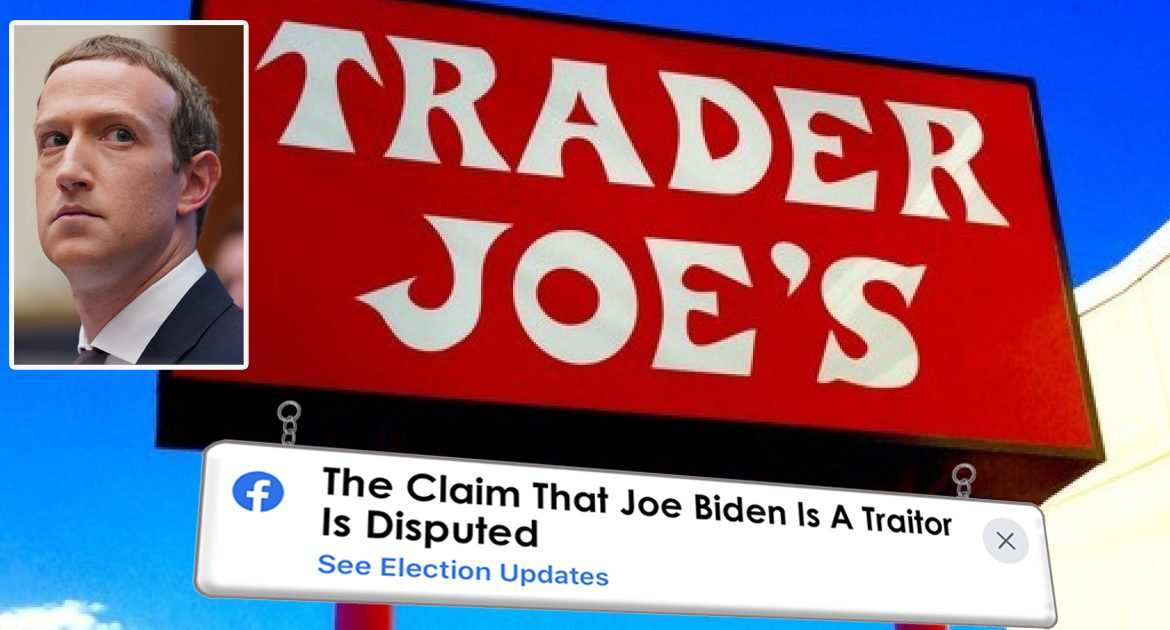 Facebook Adds Disclaimer To All Trader Joe's Signs
