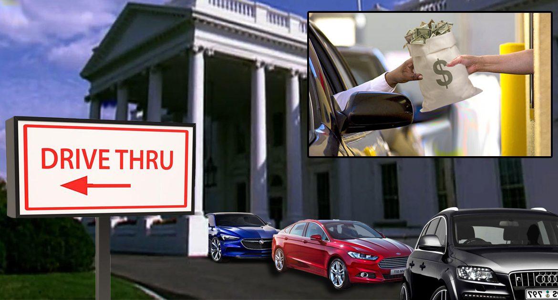 Drive-Through Installed On White House To Streamline Biden Corruption