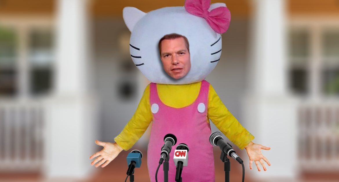 """""""I Have Nothing To Do With China!"""" Eric Swalwell Yells While Dressed As Hello Kitty"""