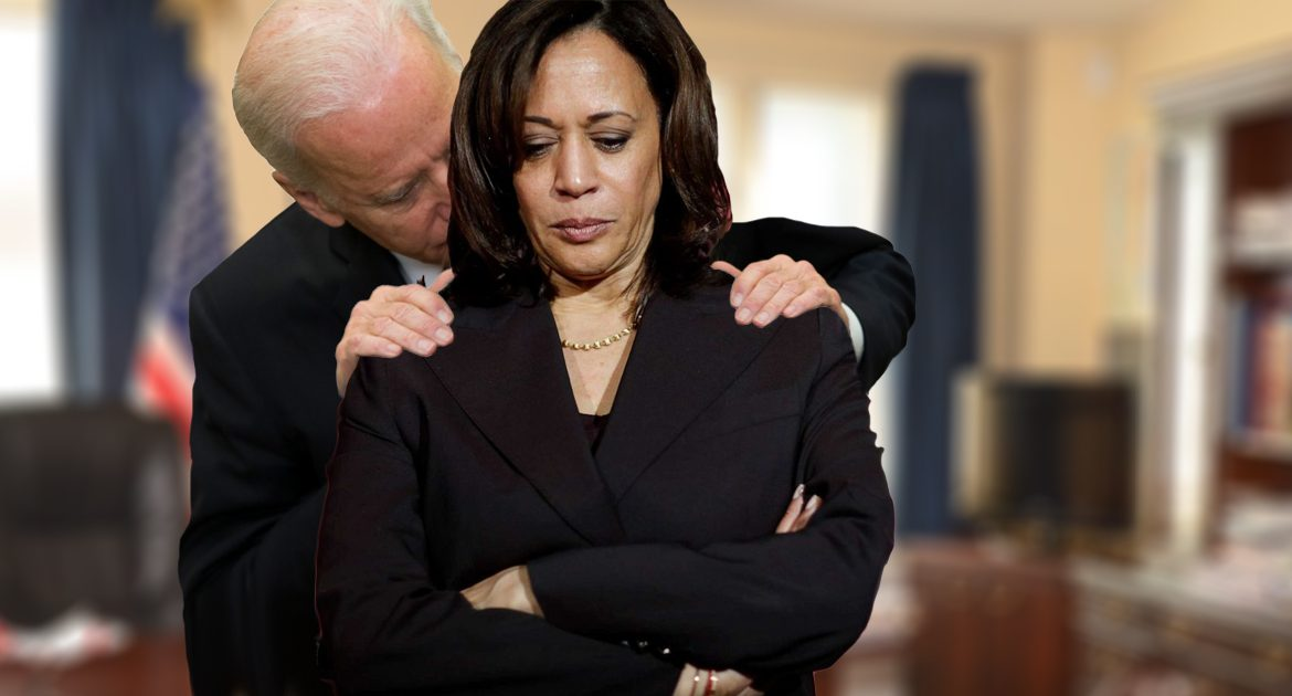 Biden's New Years Resolution Of Not Giving Kamala Shoulder Massages Comes To An End