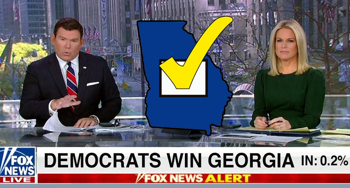 """""""We've Seen Enough!"""" Fox News Calls Georgia For Democrats With 0.2% Votes In"""