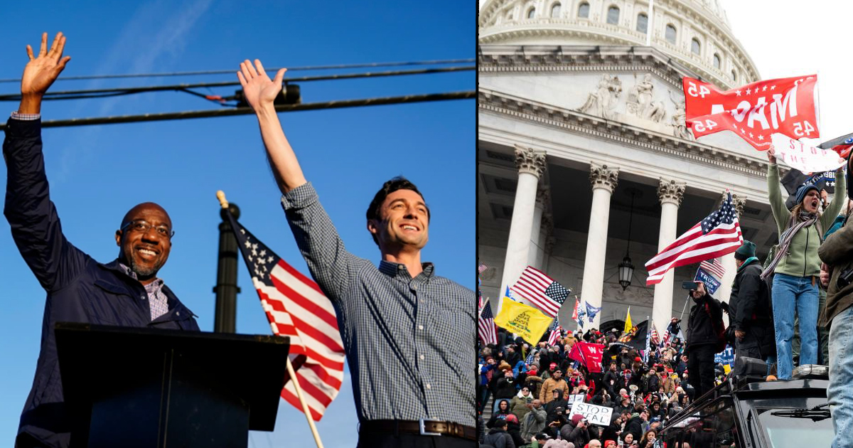 Radical Maniacs Enter Capitol Building, Followed By Protestors
