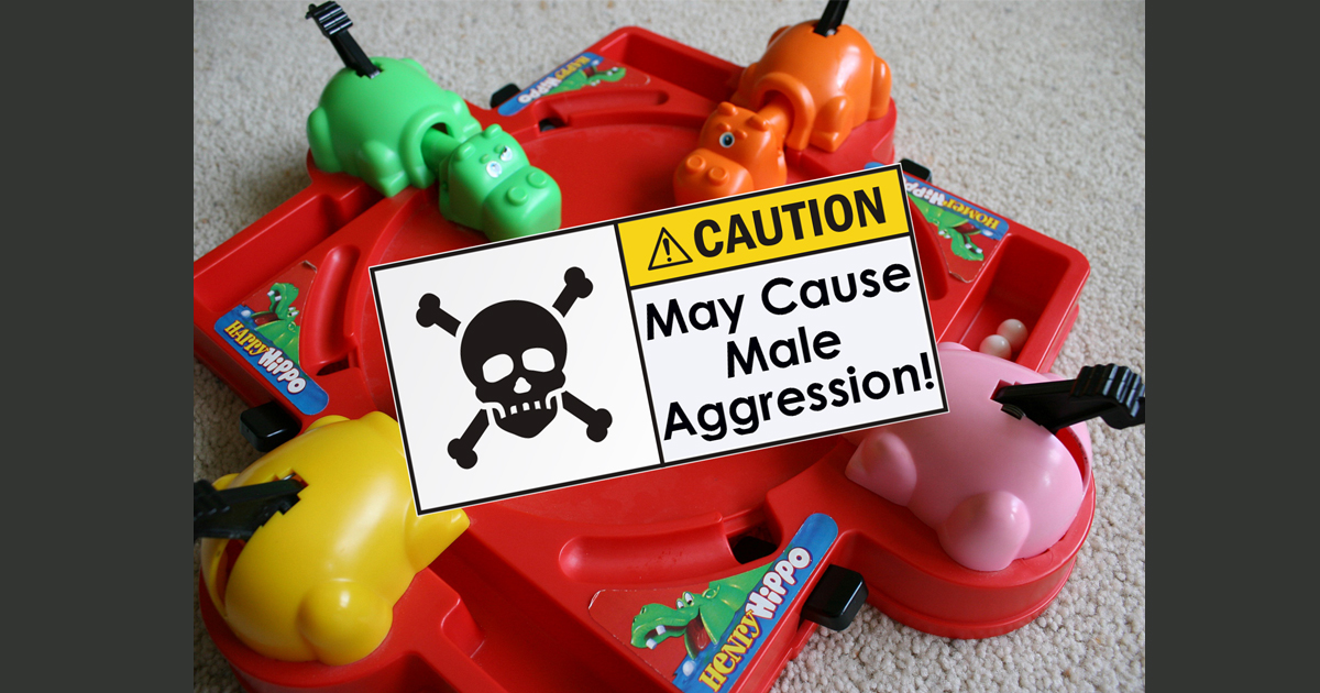 Roots of Toxic Masculinity Traced Back To Hungry, Hungry Hippos