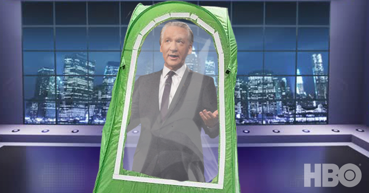 """""""Conservatives Are So Ridiculous!"""" Yells Bill Maher From Inside One Of Those Green Tents"""