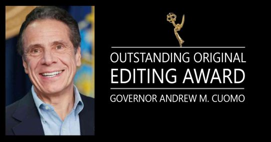 Andrew Cuomo To Receive Emmy For Outstanding Original Editing