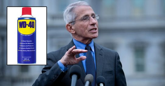 Dr. Fauci Recommends Gargling WD-40 For Increased Jaw Mobility
