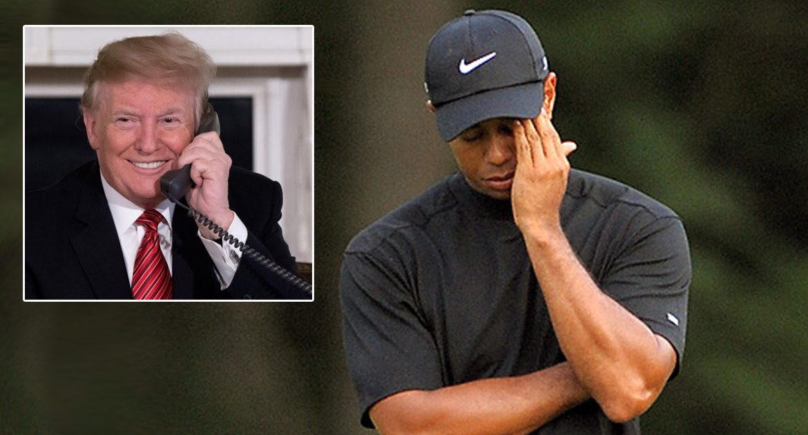 Tiger Woods 'Lucky To Be Alive' After Trump Wishes Him Well, Media Says