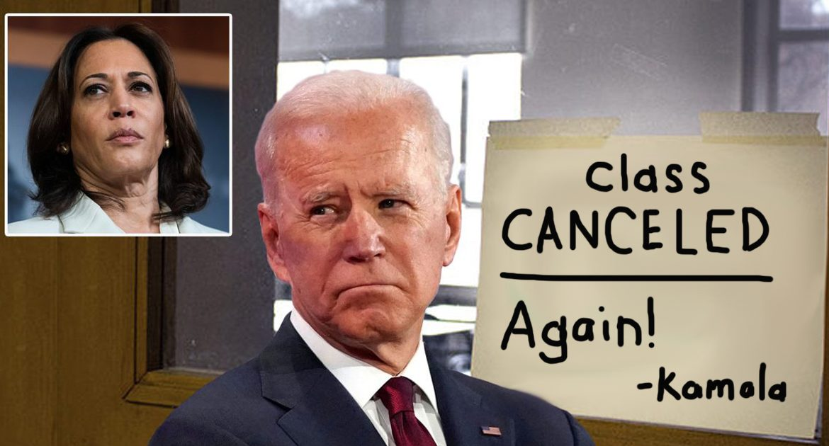 Joe Biden's Class On 'Becoming An Alpha Male' Cancelled Again By Kamala Harris