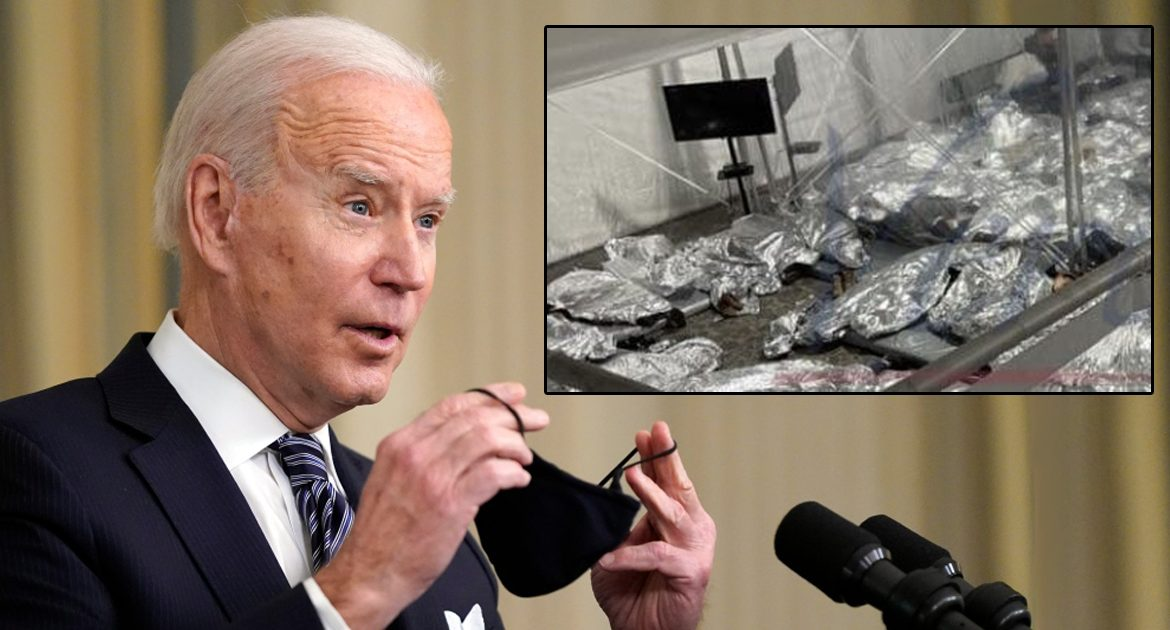 Biden On Photos Of Kids Wrapped In Aluminum Blankets: 'Who's Up For Burritos?'