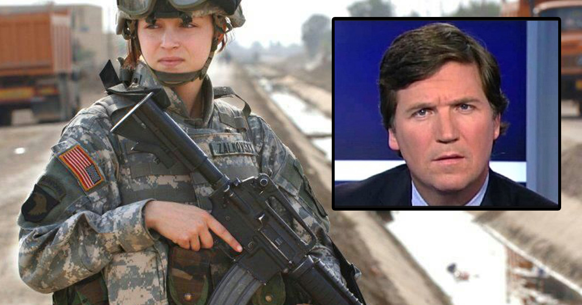 Pentagon Owns Tucker Carlson By Moving All Pregnant Soldiers To The Front Lines
