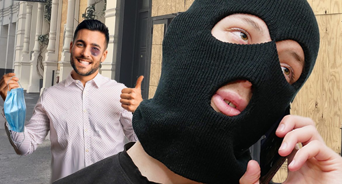 Victim Of Assault Quickly Removes Mask, Tricking Antifa To Call For Police